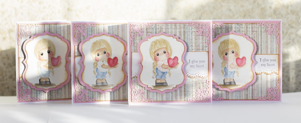 Valentines Day Card with Magnolia- I give you my heart Tilda Duo (11)