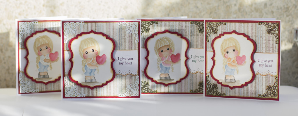 Valentines Day Card with Magnolia- I give you my heart Tilda Duo (13)