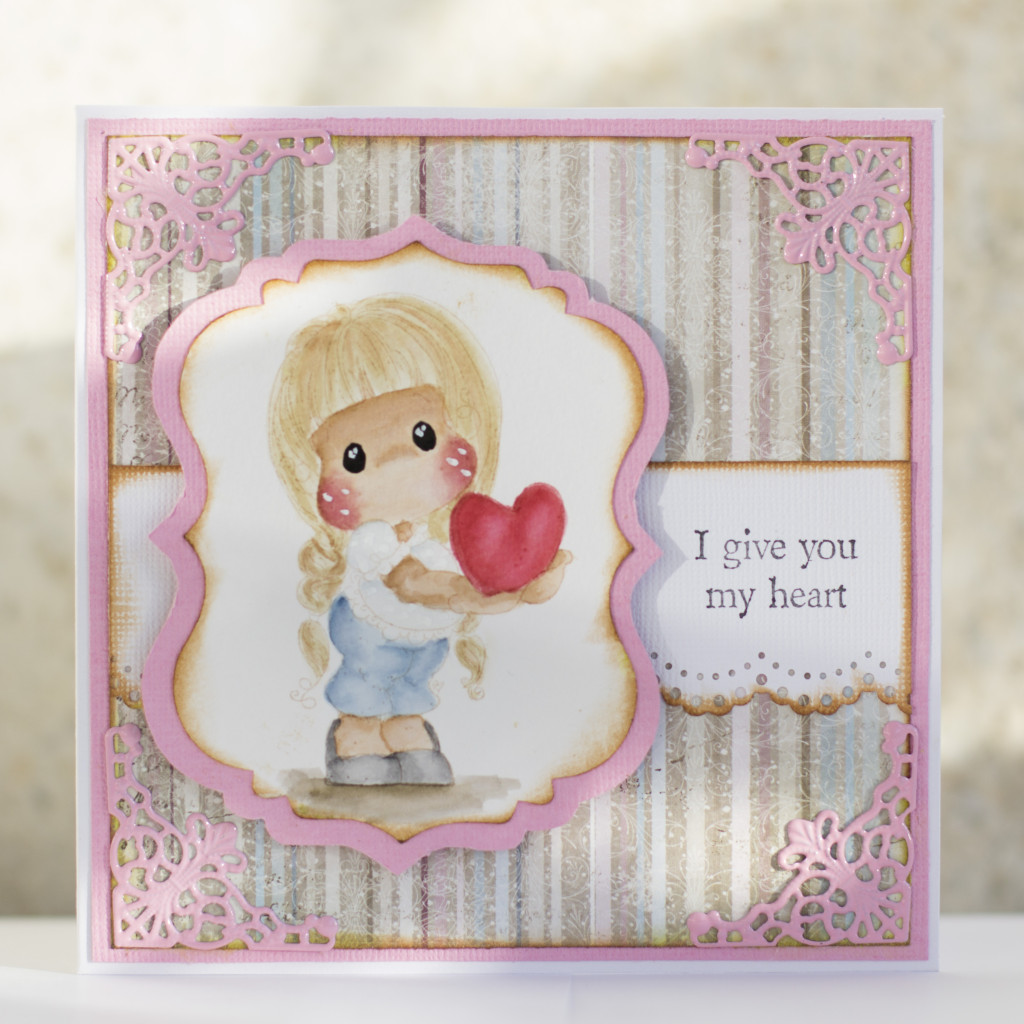 Valentines Day Card with Magnolia- I give you my heart Tilda Duo (8)