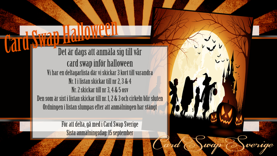 Card Swapping Time- Halloween Reklam