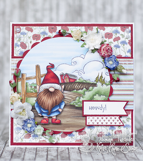 Noxine 2016 04 Kraftin Kimmie- Whimsical Gnome on the funny farm 1